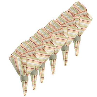 C&F Home Multi Color Striped Cotton Napkin Set of 6
