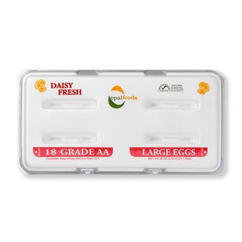 Daisy Fresh Grade AA Large Eggs - 18ct - image 1 of 3