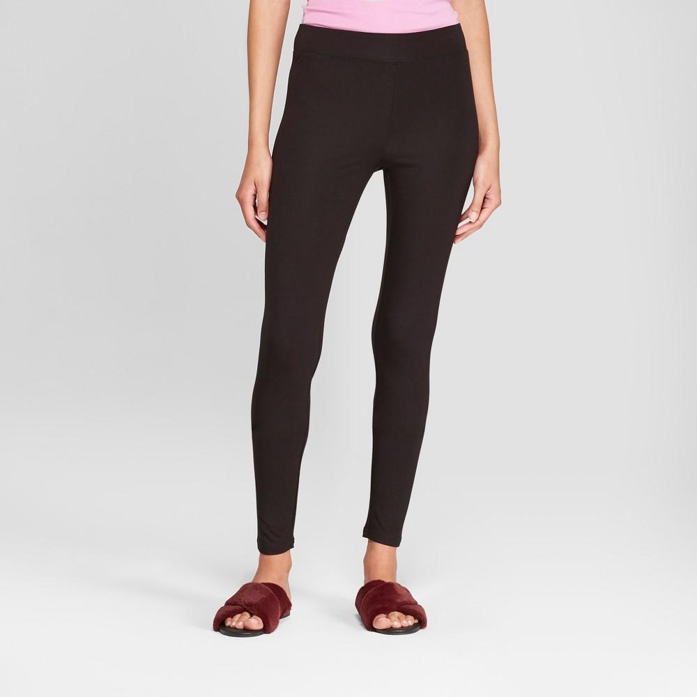 Women's Knit Leggings - A New Day Black M