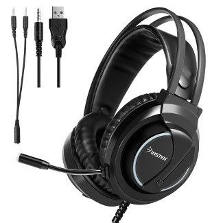 Insten Wired Gaming Headset 3.5mm Wired For PlayStation 4/5, Xbox Series X/S, Nintendo Switch, PC - Black : Target