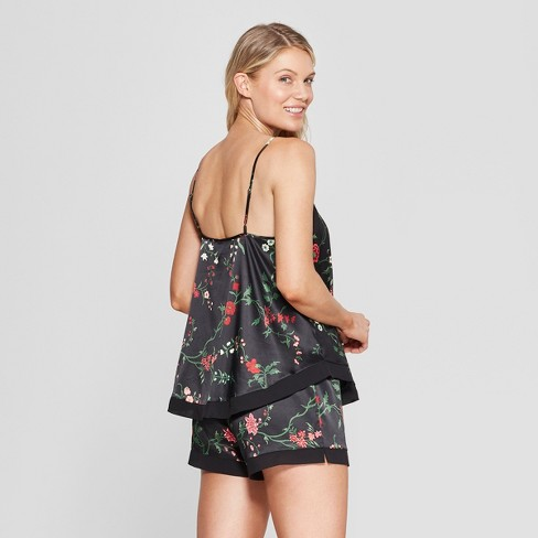 a4c2a5d7b83d Women s Floral Print Satin Pajama Set - Gilligan   O Malley™ Black XXL    Target