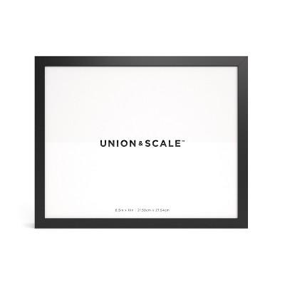 Union & Scale Essentials Wood Document Frame Black (UN58039)