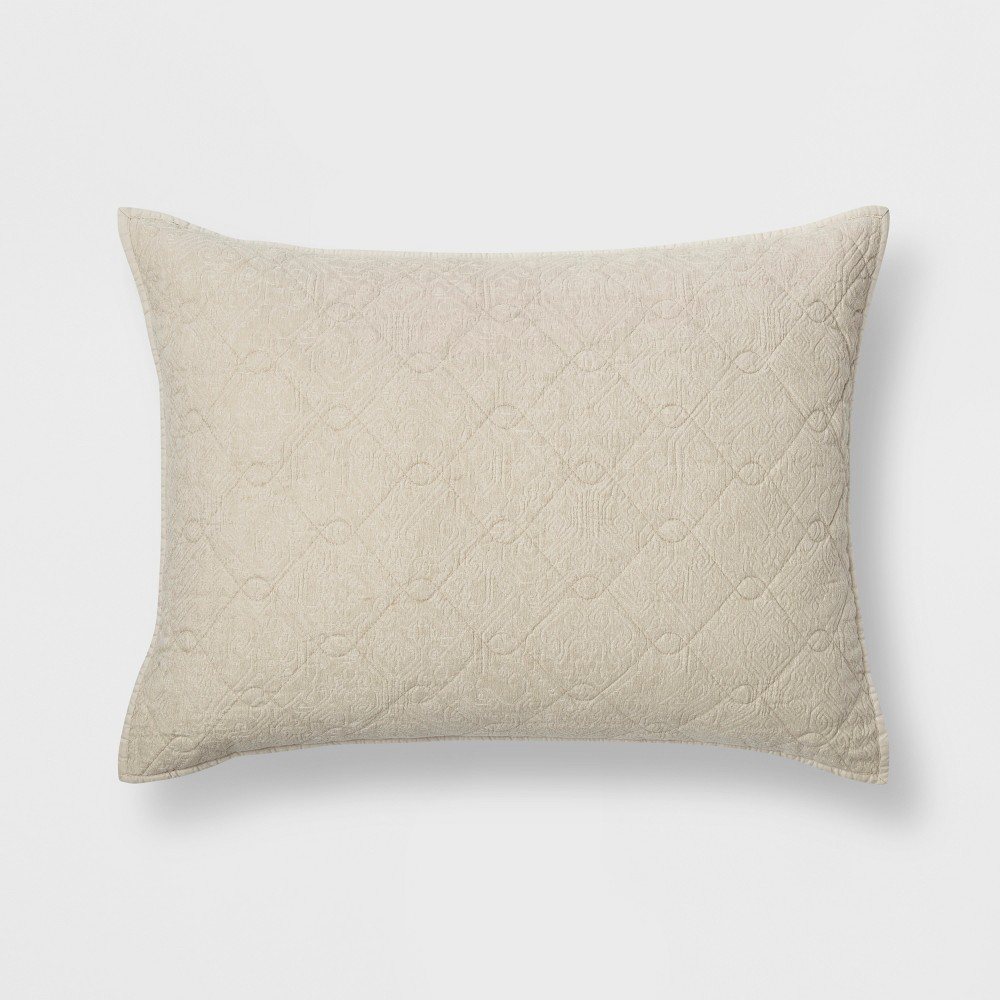 Standard Chenille Sham Cream (Ivory) - Threshold