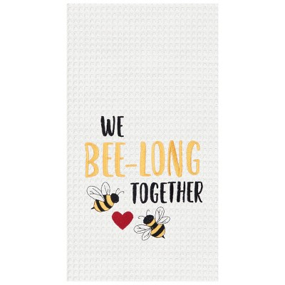 C&F Home Bee-long Together Embroidered Cotton Kitchen Towel
