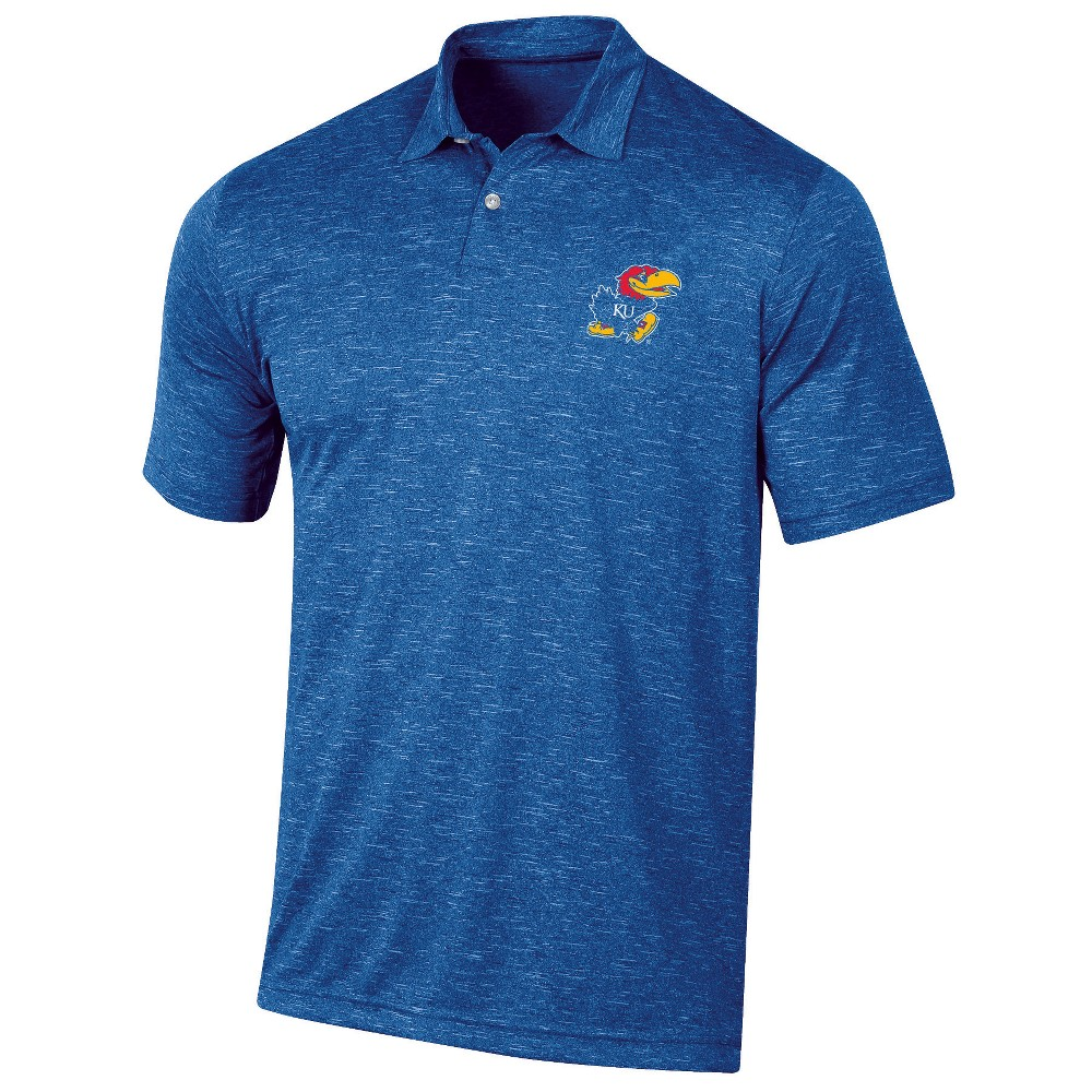 Kansas Jayhawks Men's Short Sleeve Twisted Jersey Polo Shirt - XL, Multicolored