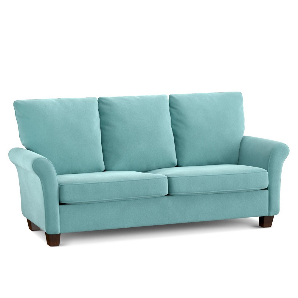Image of Randy SoFast Sofa - Turquoise Velvet - Handy Living