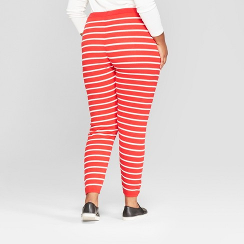 womens plus size christmas candy cane striped sweater leggings 33 degrees juniors red target