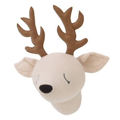 Little Love Plush Head Nursery Wall Decor Deer Beige/Brown - NoJo