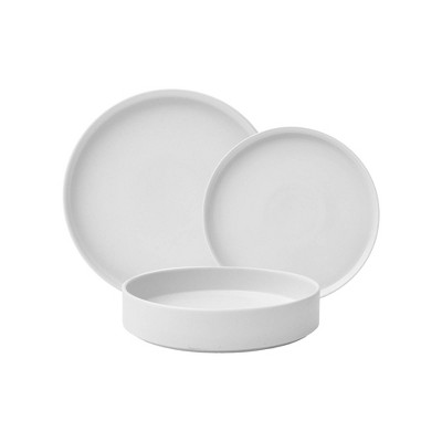 12pc Porcelain Kaden Dinnerware Set White - 222 Fifth