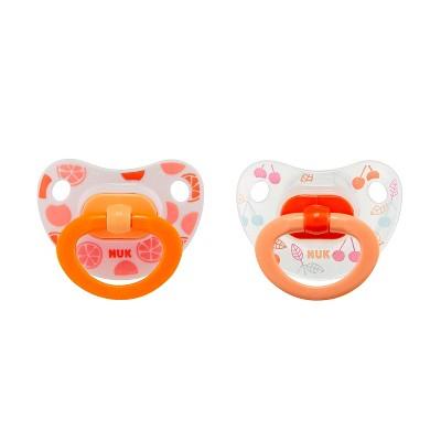 Nuk Pacifier 2pk Sz2 Fashion - Orange
