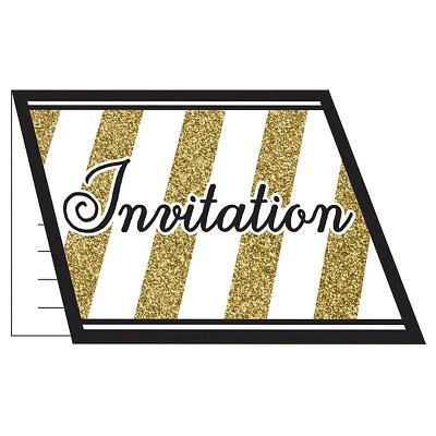 8ct Black & Gold Invitations