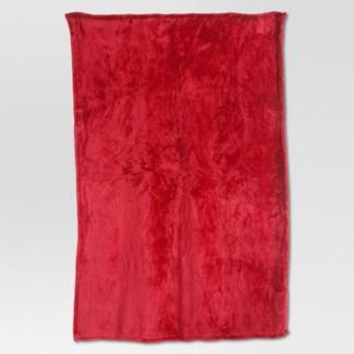 Fuzzy Throw Blanket Red - Threshold™