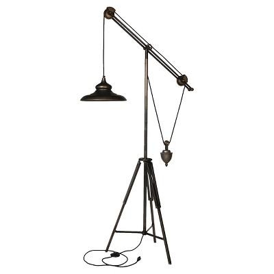 Arris Balanced Arm Tripod Floor Lamp Dark Bronze - A&B Home