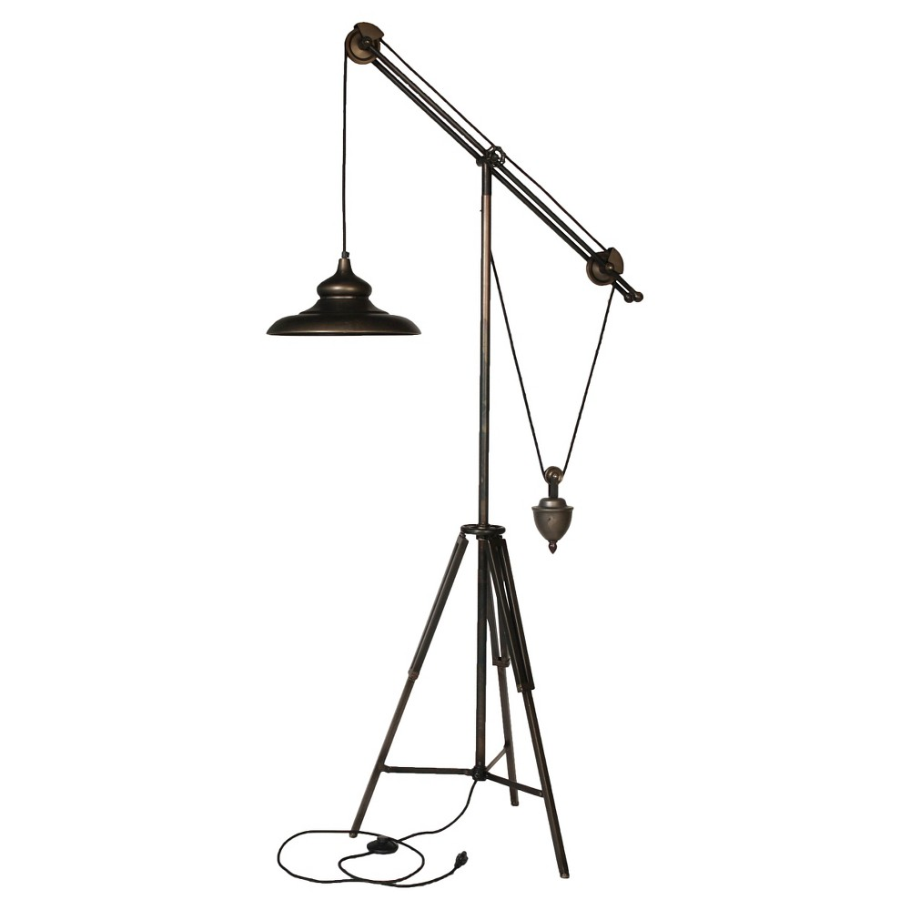 A&b Home Cantilever Floor Lamp - Black