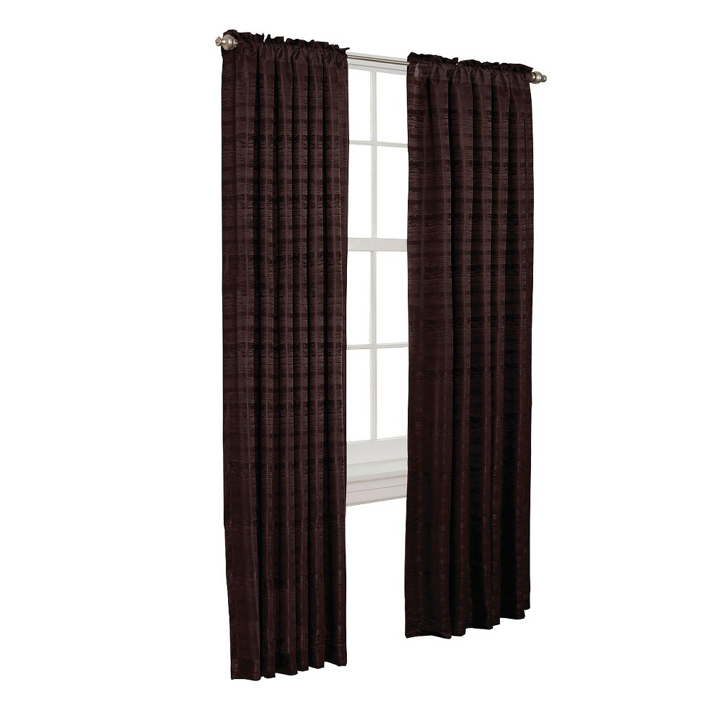 "Image of ""50""""x84"""" Francesca Room Darkening Curtain Panel Coffee Bean - Thermal Shield"""