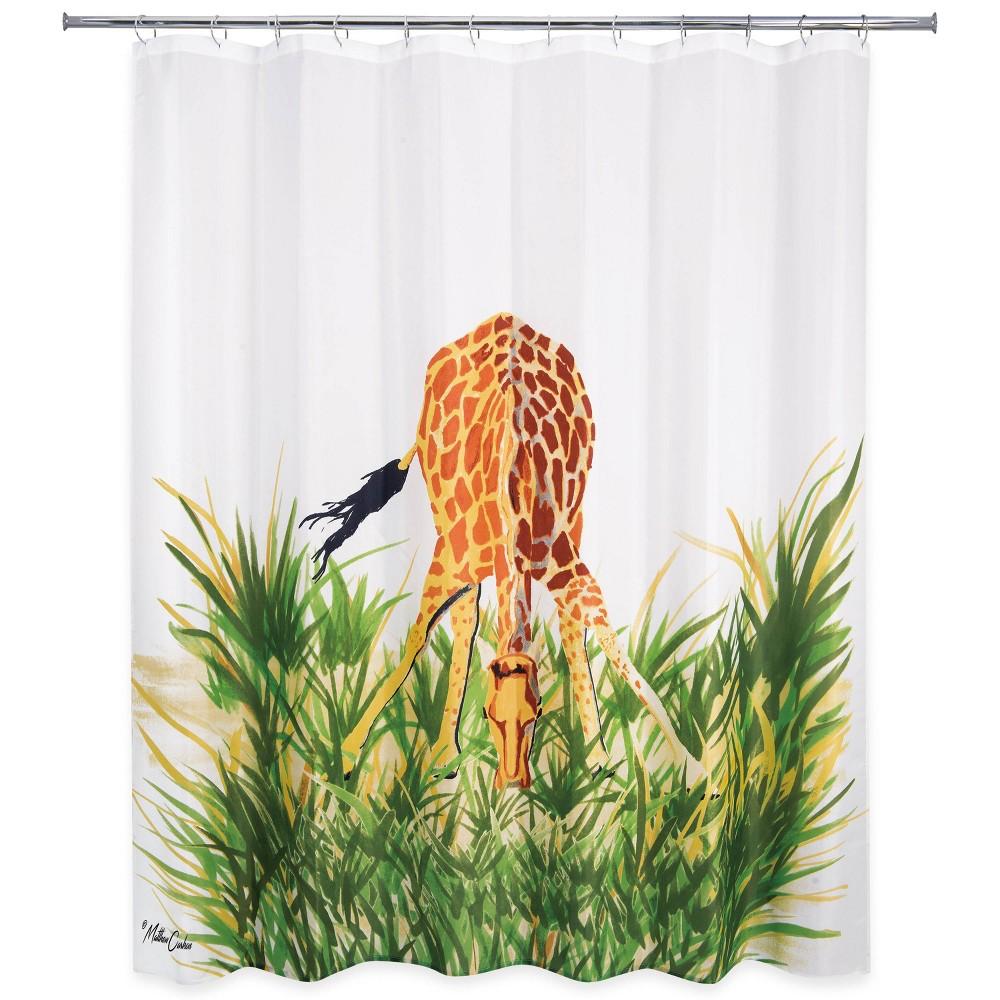 Hungry Giraffe Shower Curtain - Allure Home Creation, Multi-Colored