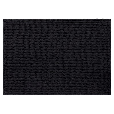Looped Memory Foam Bath Mat - Black - 17 x24  - Mohawk Home