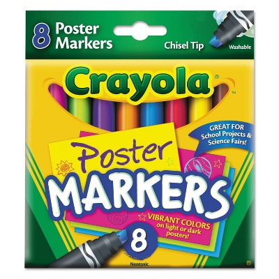Crayola Washable Poster Markers Assorted 8/Pack 588173