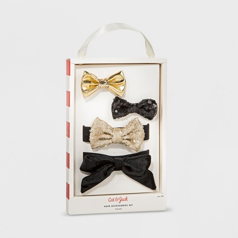 Toddler Girls' 4pc Hair Accessories Set Cat & Jack™ Gold - image 1 of 3