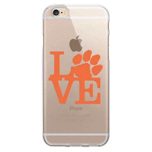 iPhone 7/6s/6 OTM Clear Case Clemson University Clear Phone Case Cropped V1 - OTM Essentials® - image 1 of 1