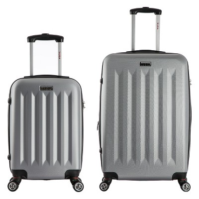 InUSA Philadelphia 2pc Hardside Spinner Luggage Set 19 & 27  - Gray
