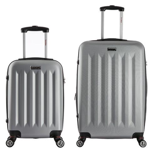 InUSA Philadelphia 2pc Hardside Spinner Luggage Set - Gray - image 1 of 4