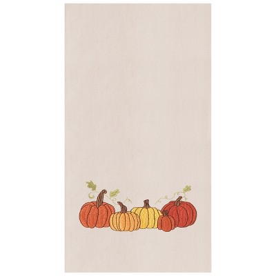 C&F Home Pumpkin Patch Flour Sack Embroidered Cotton Kitchen Towel