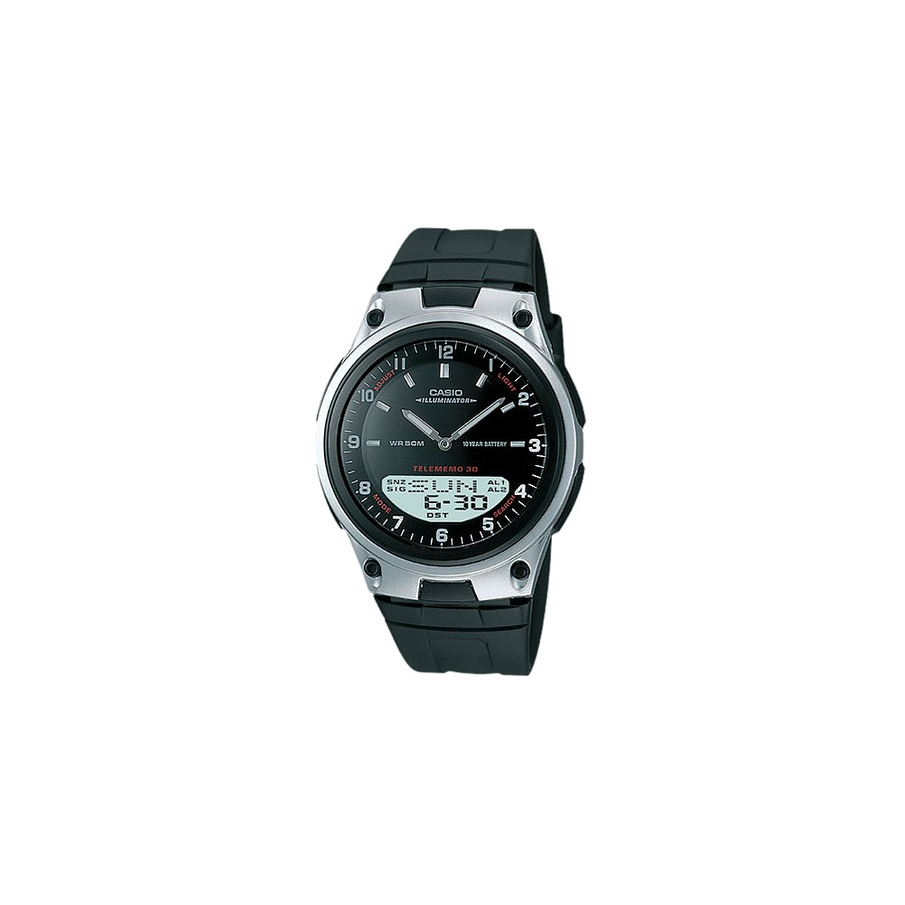 Casio Men's Ana-Digi Databank Watch - Black (AW80-1AV)