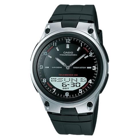 Casio Men's Ana-Digi Databank Watch - Black (AW80-1AV) - image 1 of 1