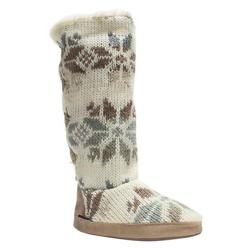 37604f9d64d0 Women s MUK LUKS® Maleah Slipper Boots - Cream M(6-7)   Target