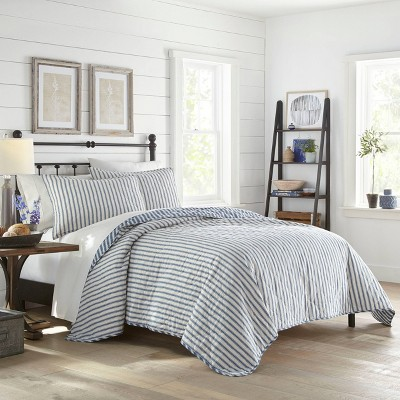 Willow Way Ticking Stripe Quilt Set - Stone Cottage