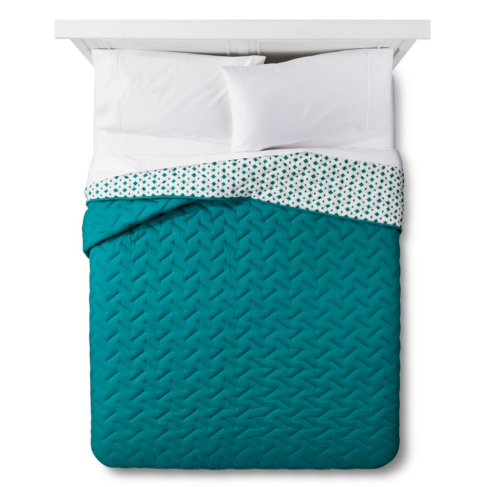 Blue High Rise Stitch Quilt (Full/Queen) - Room Essentials
