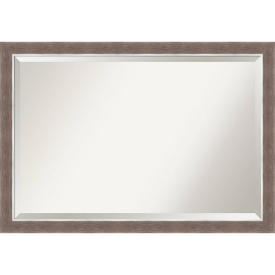 "40"" x 28"" Noble Mocha Framed Bathroom Vanity Wall Mirror - Amanti Art"