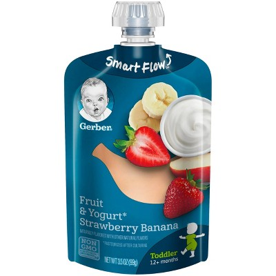 Gerber Toddler Food Fruit & Yogurt Strawberry Banana - 3.5oz