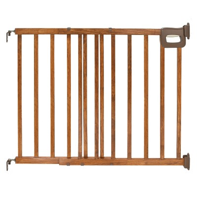 Summer Infant® Walk Thru Deluxe Stairway Simple-to-Secure Baby Gate (Wood Finish)