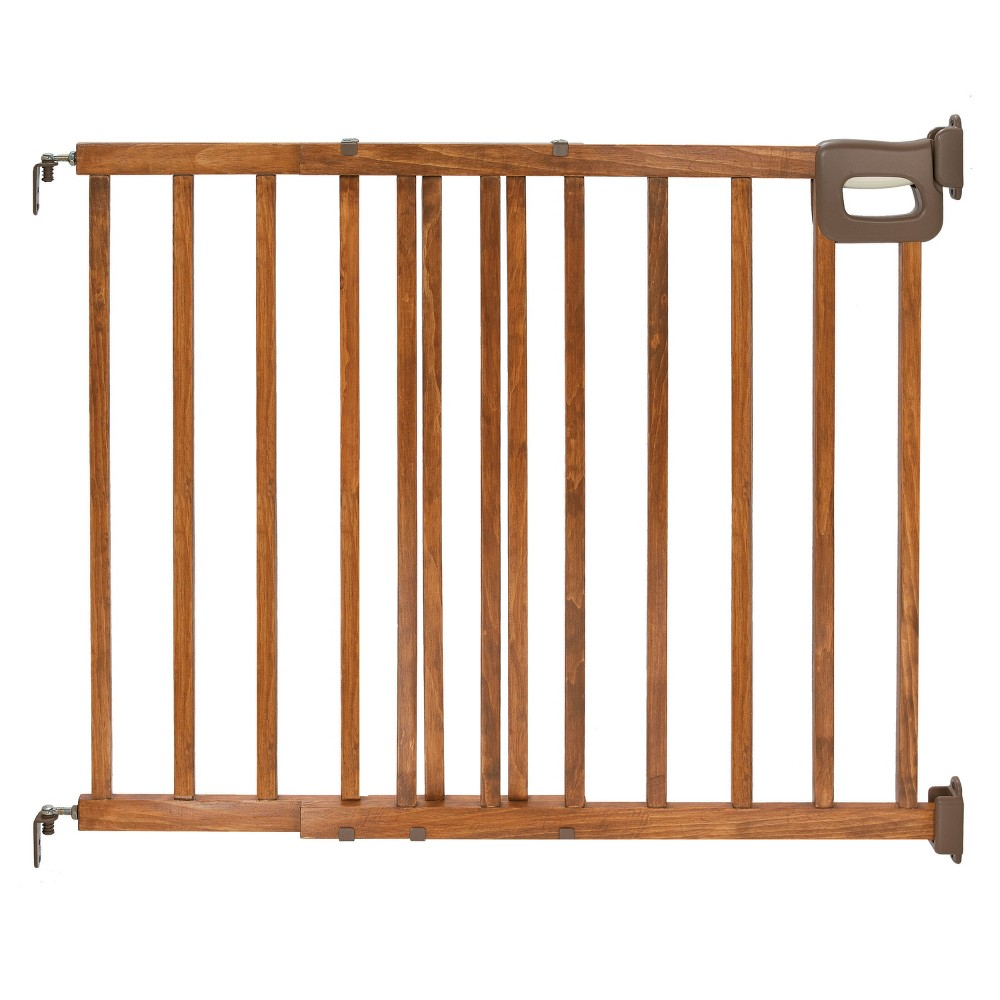 Summer Infant Walk Thru Deluxe Stairway Simple-to-Secure Baby Gate (Wood Finish), Antique Oak