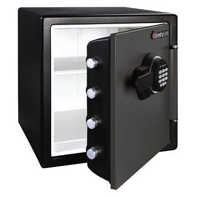 Fire/Water Digital Lock Safe Black Steel - SentrySafe