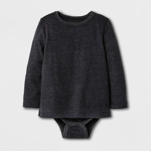 906c027ad Toddler Boys  Adaptive Long Sleeve Bodysuit - Cat   Jack™ Black   Target