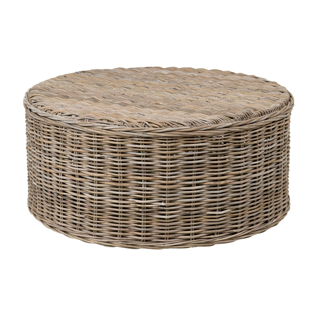 Bromley Rattan Coffee Table Gray - East At Main