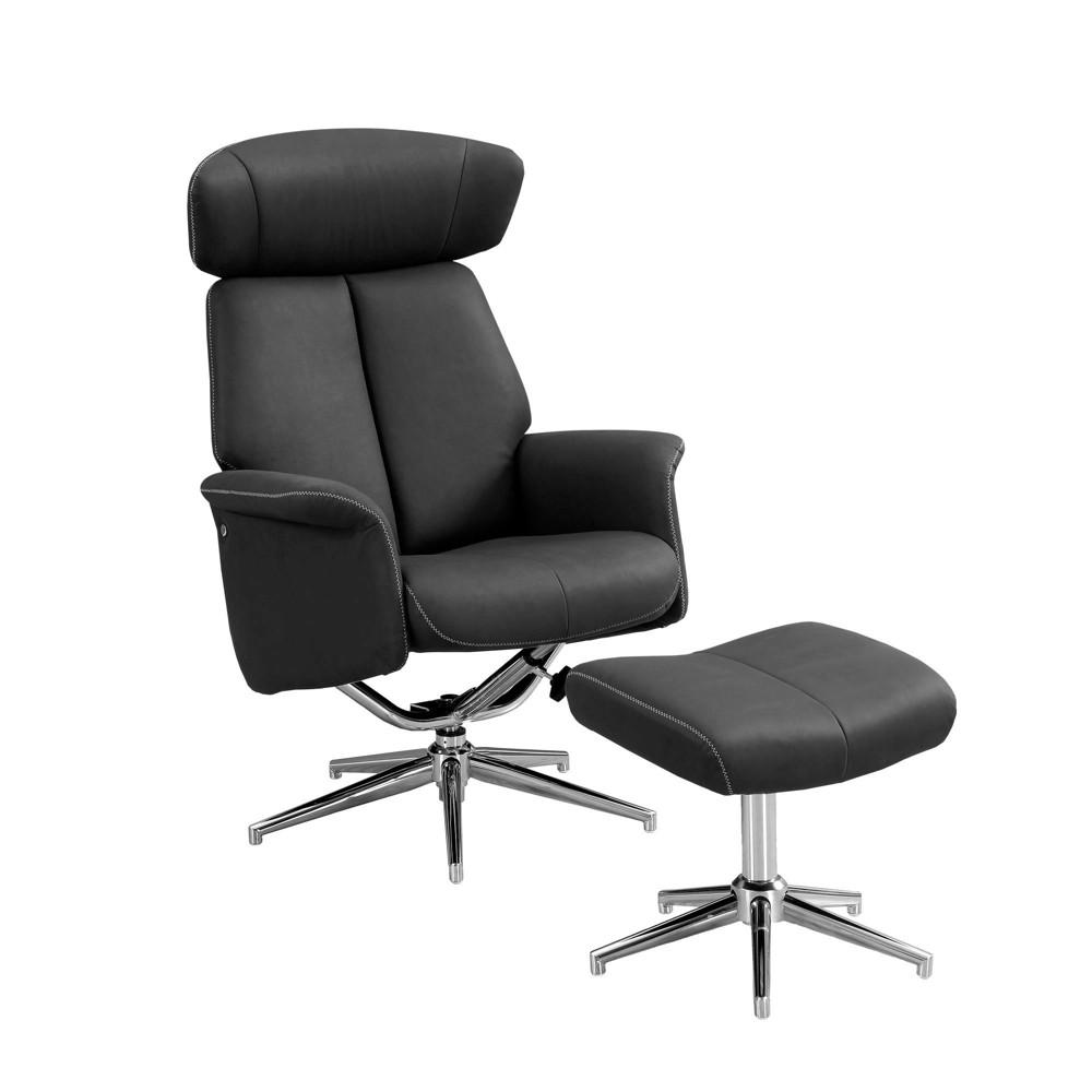 Image of 2pc Recliner Swivel Adjustable Headrest Black - EveryRoom