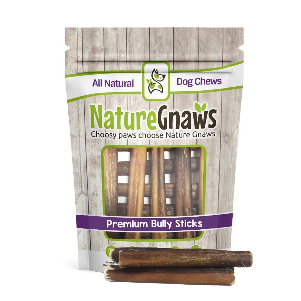 Nature Gnaws - Large Bully Sticks - 5-6 - Dog Chew Treats - 10ct