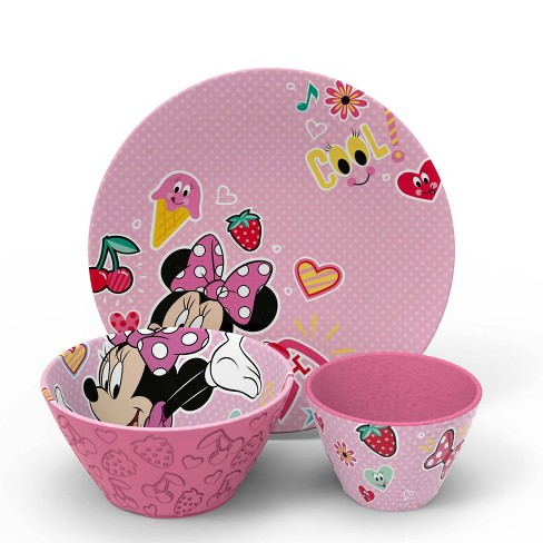 Disney Minnie Mouse 3pc Melamine Dinnerware Set - Zak Designs - image 1 of 4