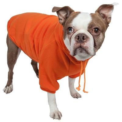 Pet Life Fashion Plush Cotton Hooded Sweater Dog and Cat Hoodie - Orange