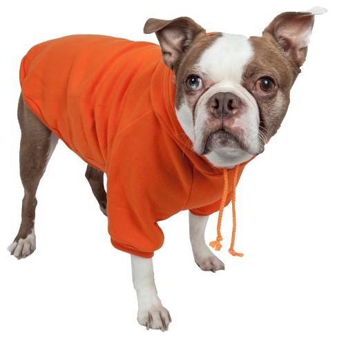 Pet Life Fashion Plush Cotton Hooded Sweater Dog Hoodie - Orange - M - image 1 of 4