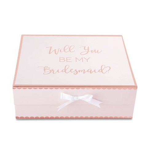 2ct Will You Be My Bridesmaid Gift Box Pink Kate Aspen