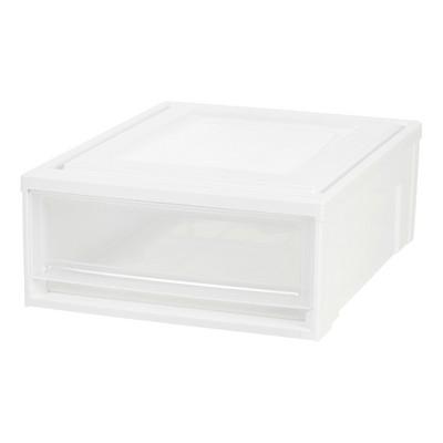 IRIS Stacking Plastic Storage Drawer White