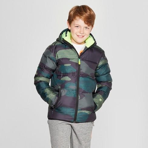 553c88aef Boys  Puffer Jacket - C9 Champion® Green   Target