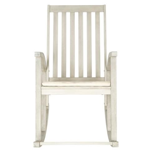 Lugano Wood Patio Rocking Chair White