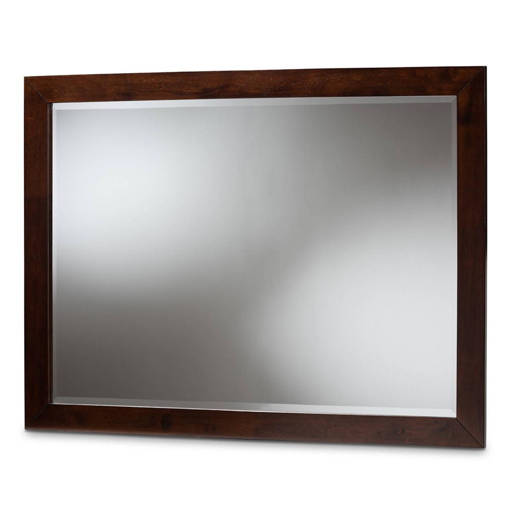 Image of Butler Dresser Mirror Dark Brown - Baxton Studio