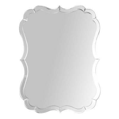 Culpo Rectangle Wall Mirror - Silver - Abbyson